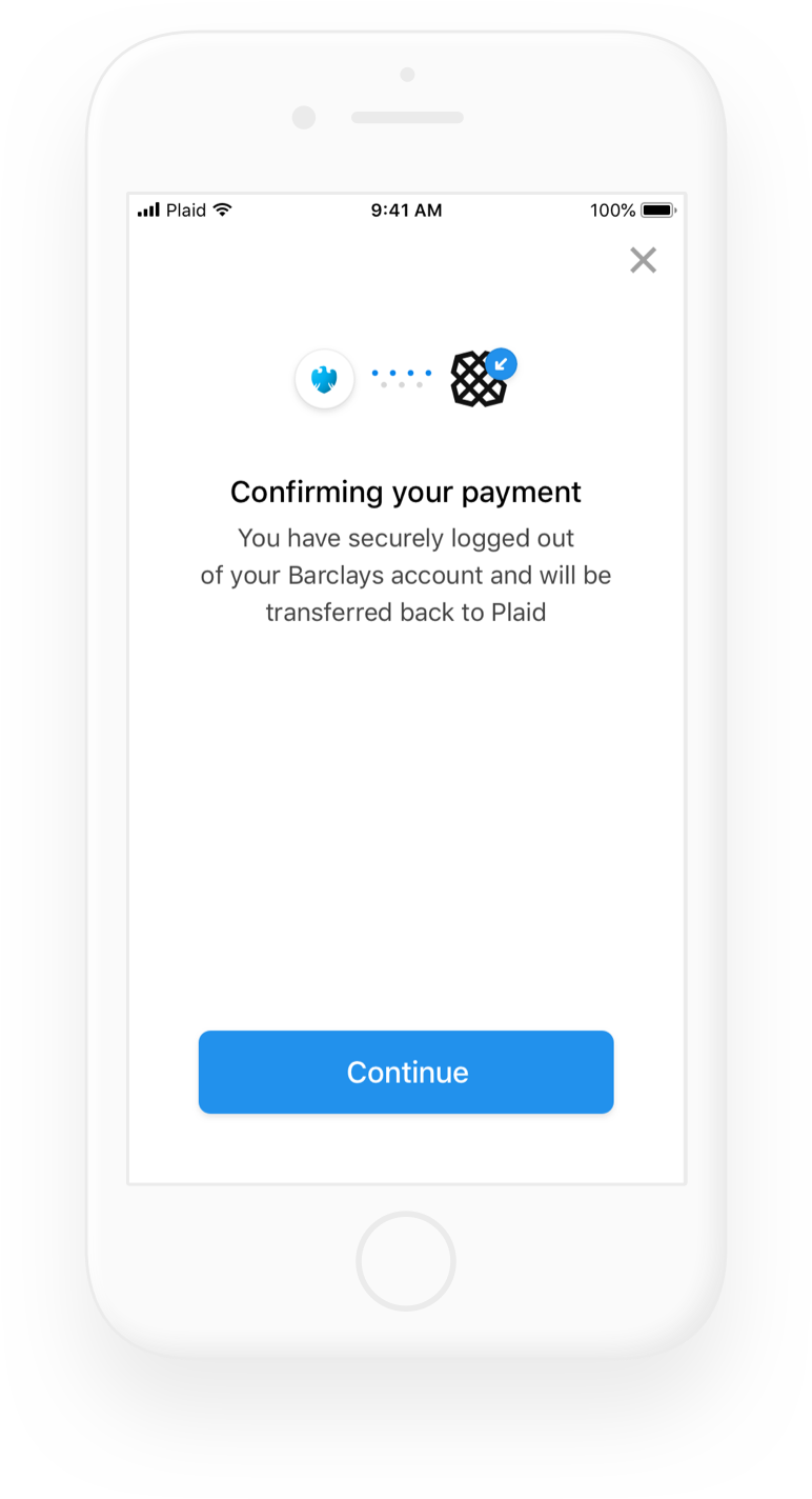 Confirm payment transfer